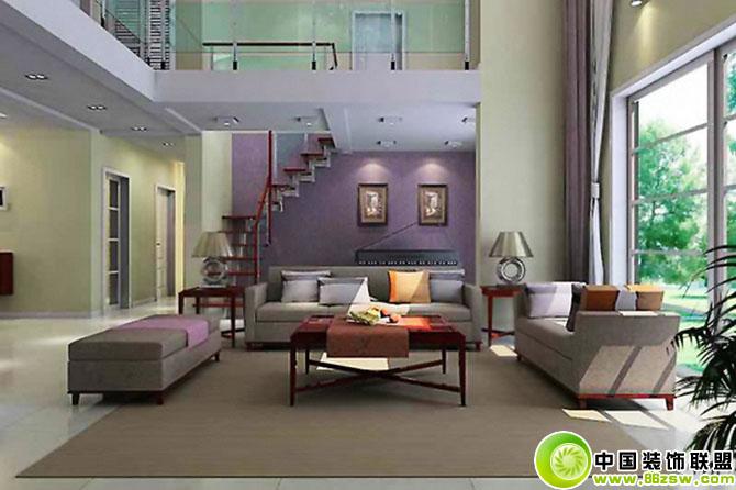 复式客厅楼道装修图 客厅装修效果图