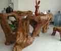 漂亮的木雕艺术茶几中式风格