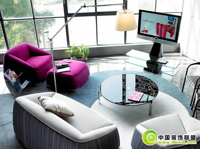 客厅电视机柜欣赏 现代风格装修效果图 八六装饰网装修效