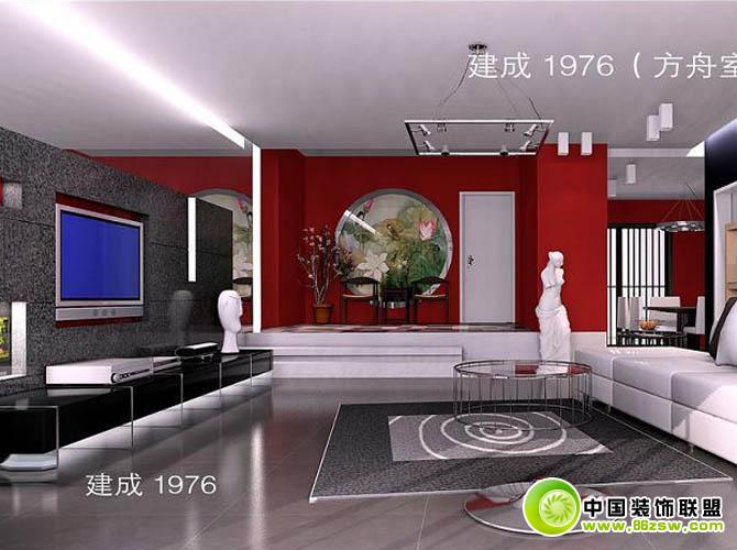 电视机背景图片搜集整套大图展示_现代小户型装修效果