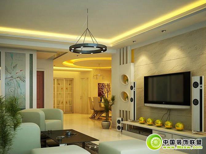 电视机背景图片搜集-客厅装修效果图-八六(中国)装饰