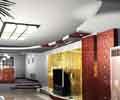 豪华客厅吊顶效果图现代风格小户型