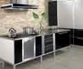 金属感和现代感的厨房图片