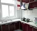 深红色的整体橱柜效果图片