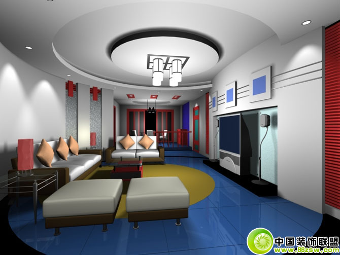 安庆装饰公司-客厅效果图现代风格