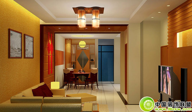 最新客厅与餐厅装饰效果图