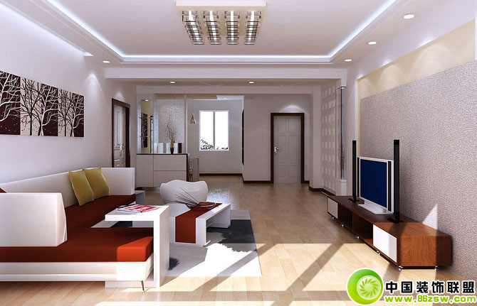 现代中式客厅吊顶设计效果图现代客厅装修图片