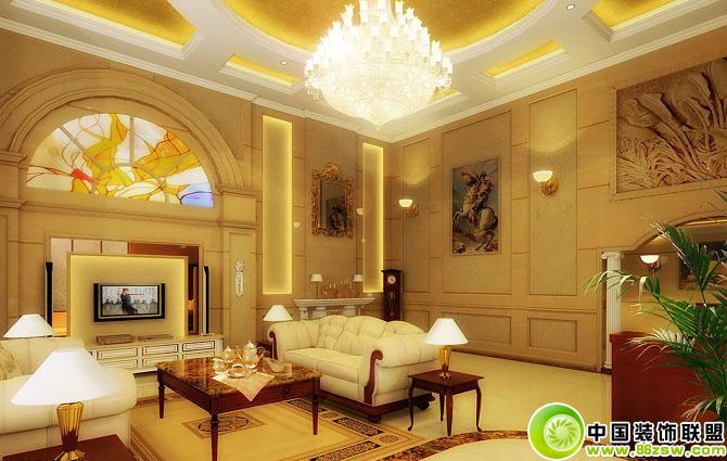 高档豪华别墅客厅装修设计