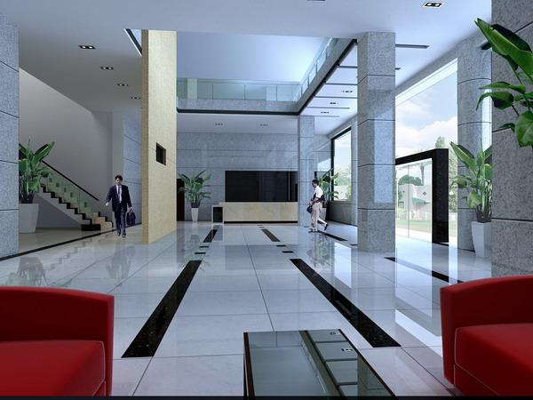 办公楼大厅_办公室装修效果图_八六(中国)装饰联盟(86