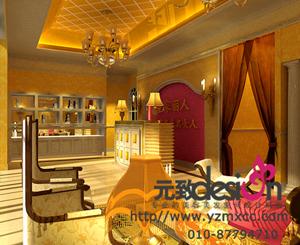 美容院设计效果图 单张展示 美容美发装修效果图 -美容院设计效果图