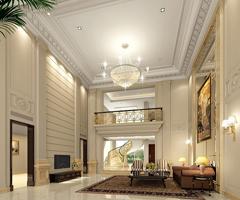 现代宫廷式豪华大客厅