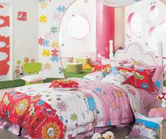 缤纷色彩打造可爱地带 活泼的儿童床品 - 儿童房现代风格小户型