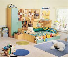 方便实用的时尚子母床 扮靓儿童房 - 儿童房