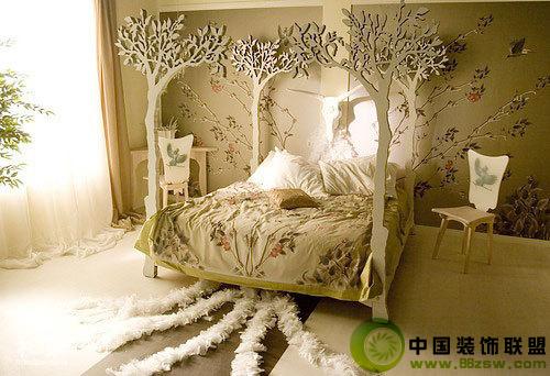 唯美公主卧室_欧式小户型装修效果图_八六(中国)装饰