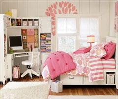 糖果色彩 青春洋溢的甜美少女卧室
