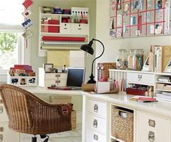 简约舒适的书房环境现代风格小户型