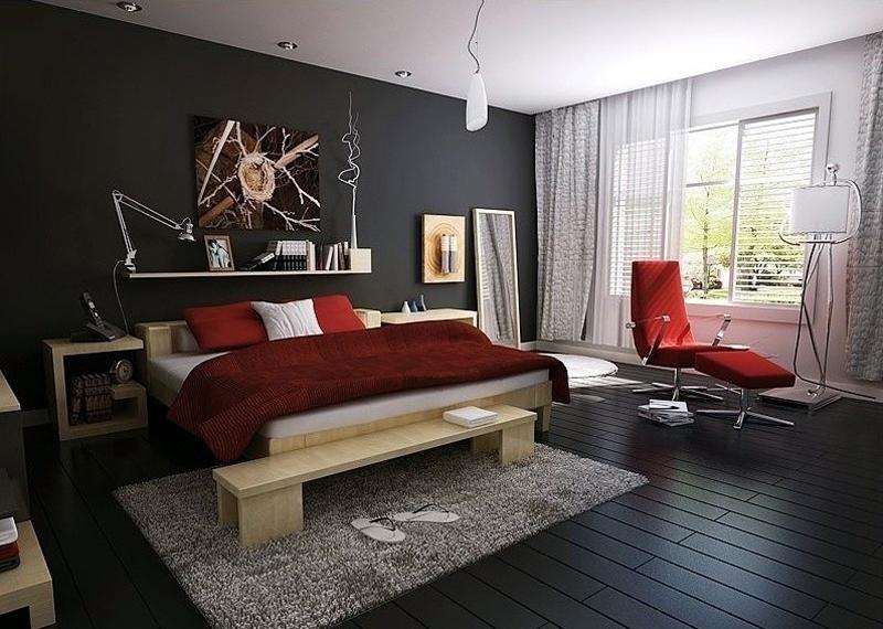 优美后现代卧室客厅装修图片