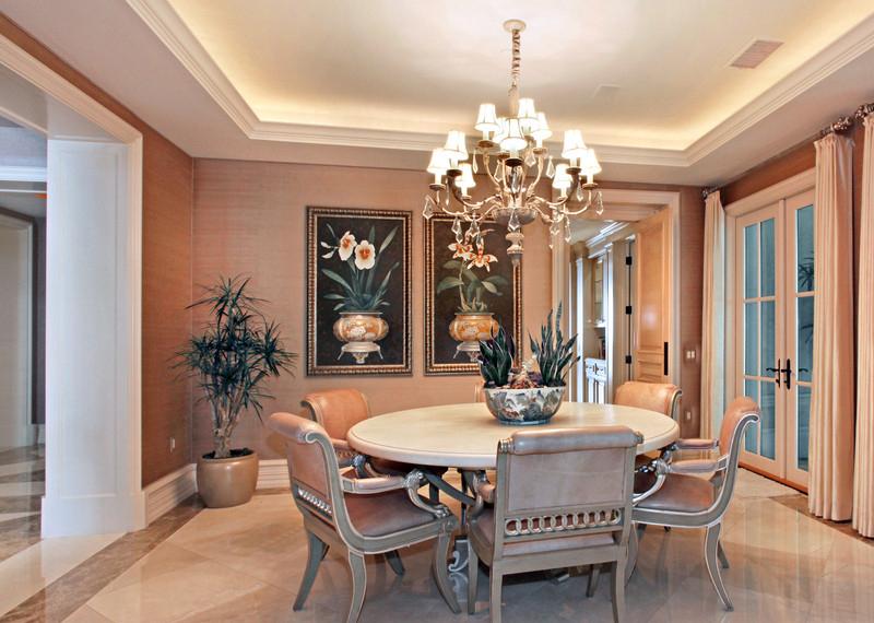 现代家居餐厅 中式风格装修效果图 八六装饰网装修效果图库 www.86