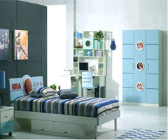 NBA儿童整体卧室家具 释放青春活力