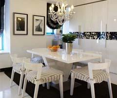 地下铁风格的黑白家具打造个性简约风格 - 餐厅