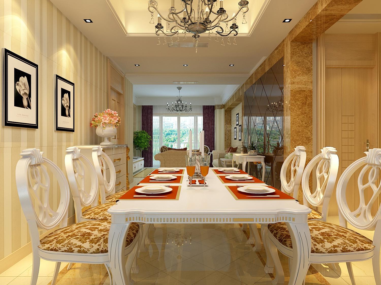 欣赏欧美式客厅餐桌整合设计 儿童房装修效果图