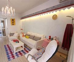 纯白乡村小屋的幸福生活 - 客厅