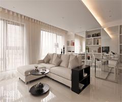 68平纯白现代简约温馨居室 - 客厅