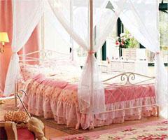 粉色甜蜜公主房 让梦飞翔 - 卧室