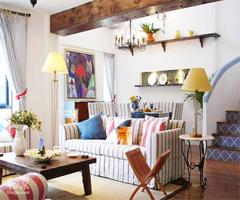 地中海风格的家 - 客厅