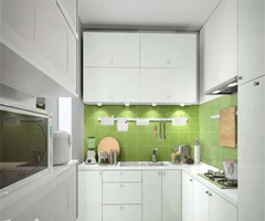 漂亮实用的舒适厨房 - 厨房