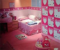 可爱粉系儿童房