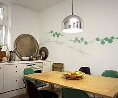 最爱的疯狂手绘墙贴 - 餐厅
