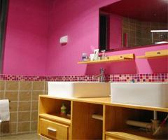 绚丽的粉紫色婚房 - 卫生间