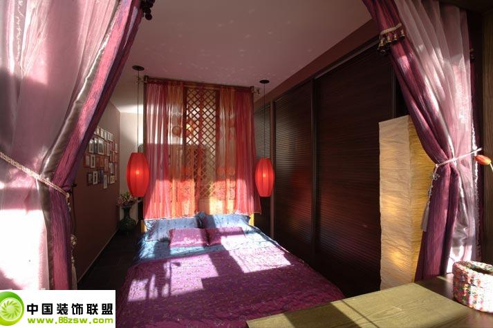 东南亚风欧式卧室装修图片