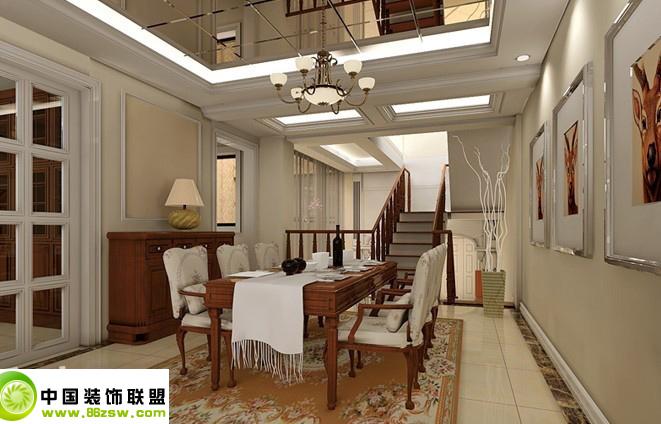 欧式餐厅_欧式小户型装修效果图_八六(中国)装饰联盟