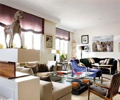 北欧风VS古典风 个性混搭打造时尚美家 - 客厅