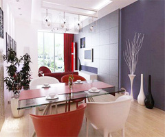 让人心情舒畅的多彩客厅吊顶 - 客厅