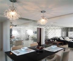 时尚黑白简约三房两厅 - 餐厅