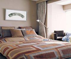 简约并富有层次感卧室背景墙 - 卧室
