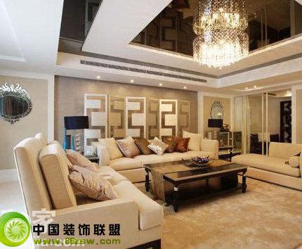 现代极简风格-客厅装修图片