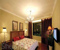 美式家居的白色清纯丽舍 - 卧室