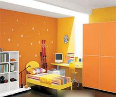 橙色的家,暖洋洋的好想吃 - 卧室