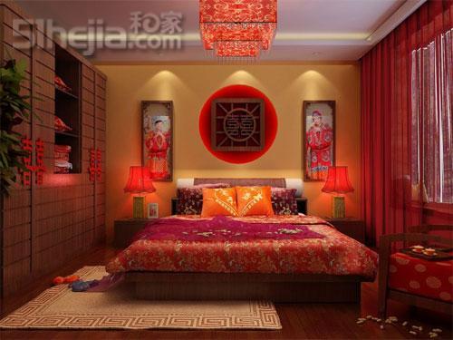 中式婚房 回归传统文化之美 - 卧室