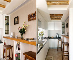 特调浪漫色彩的美式乡村居 - 厨房
