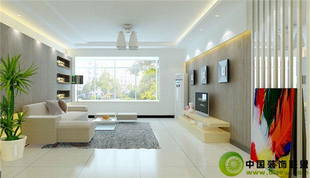 二居室现代风格客厅装饰整套大图展示_现代装修效果图