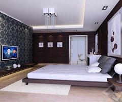 三居室现代卧室装饰