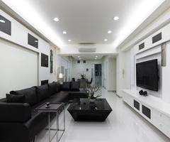 黑白簡約式設計風格 - 客廳