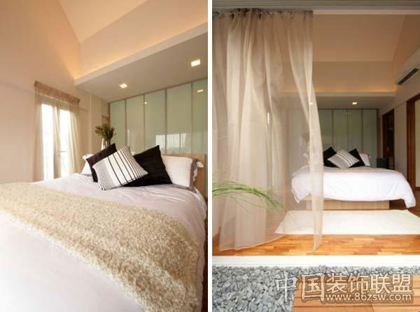 温馨舒适公寓设计现代卧室装修图片