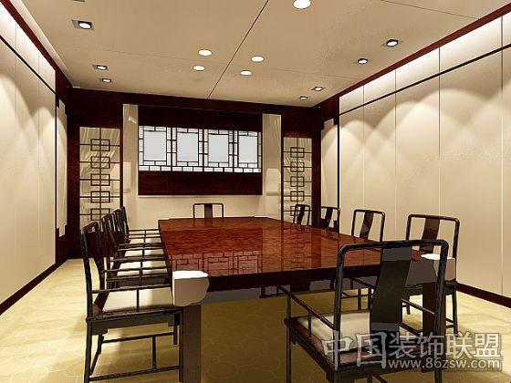 简约中式室内设计整套大图展示_中式装修效果图_八六