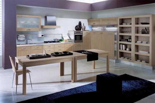 一说到厨房就往往给人烟雾缭绕的炙热感,在年轻家庭中能下的厨房是一种高尚美德。其实能和自己的家人一起下厨房烹饪几道可口的小菜,不仅可以吃得健康,更是促进彼此感情的方式。今天为大家介绍的几款厨房设计,从视觉上驱赶了炎热感,并都加入了一些人性化的细节设计,让你享受到情趣厨房生活。